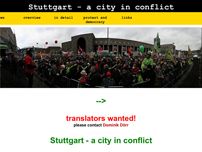 no-stuttgart21.info - A city in conflict